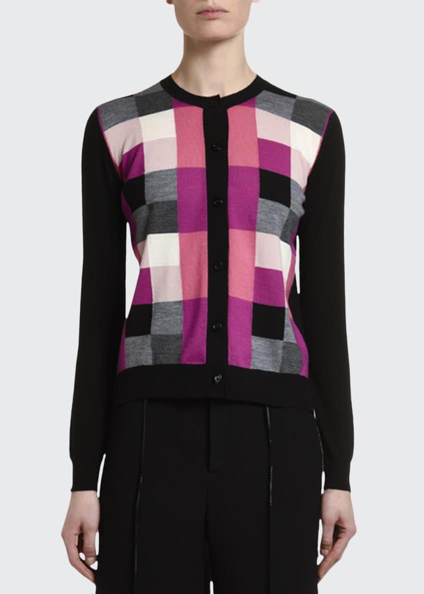 Marni Pixel Jacquard Wool Button-Front Cardigan & Matching
