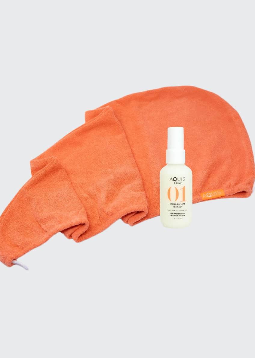 Aquis Tangerine Rapid Dry Lisse Hair Turban +