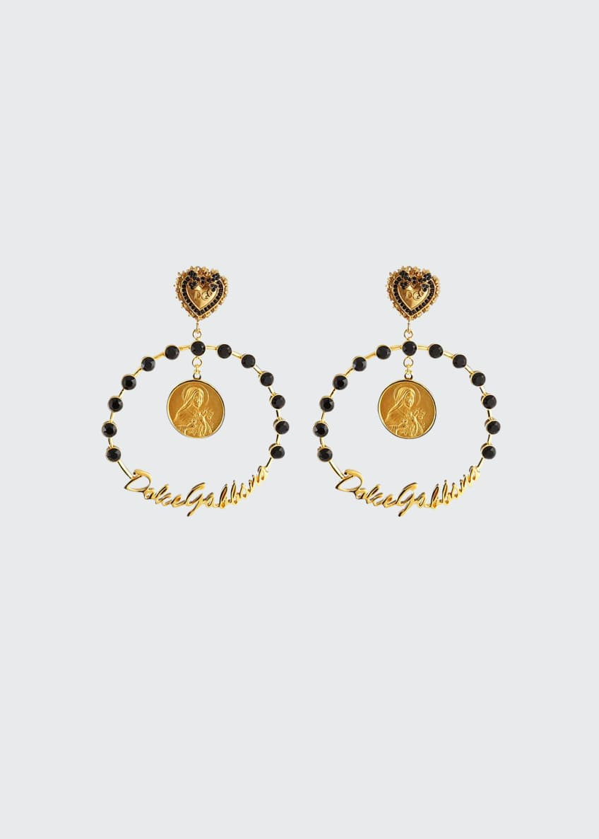 Dolce & Gabbana Crazy for Sicily Hoop Earrings