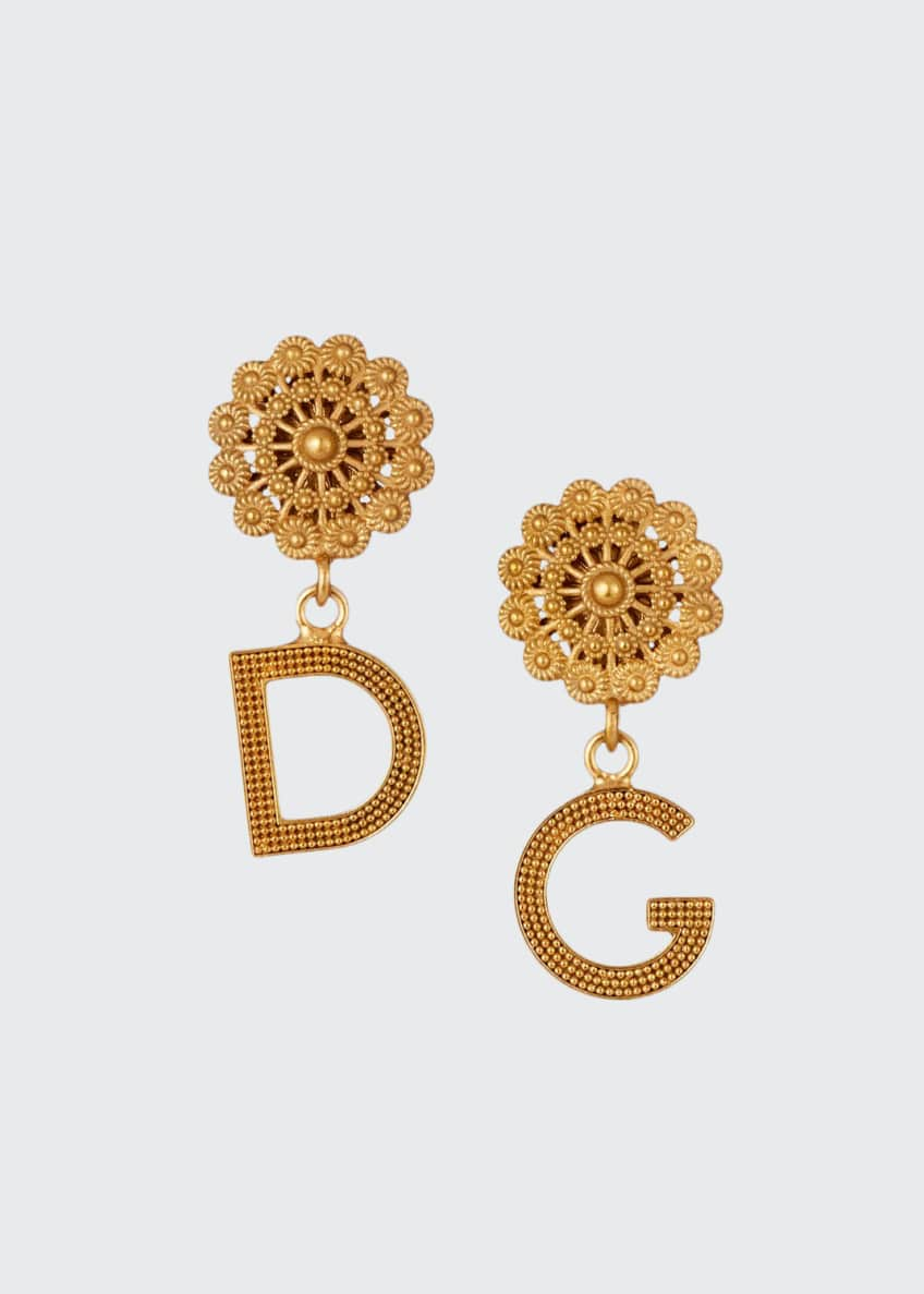 Dolce & Gabbana Filigree DG-Drop Earrings