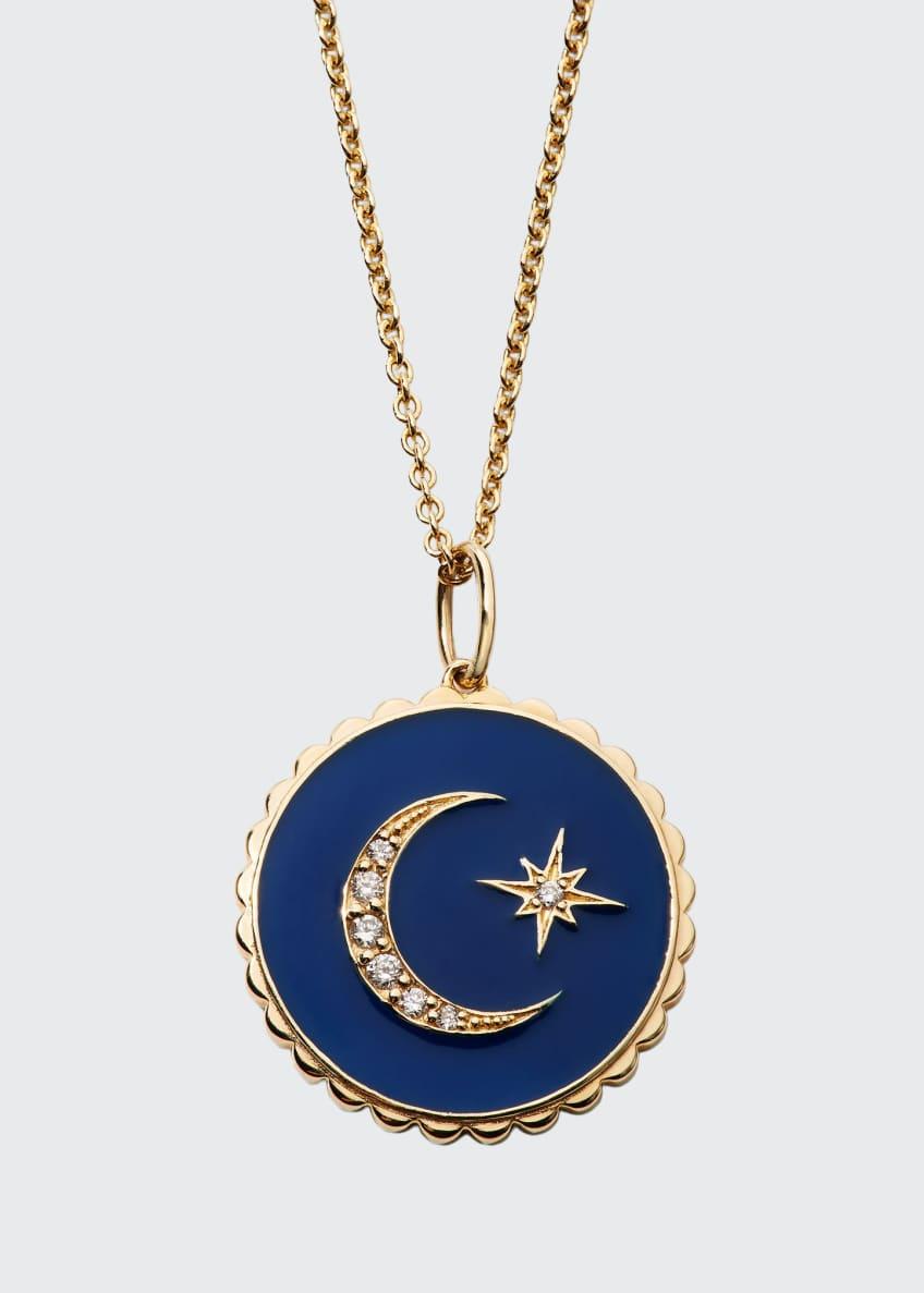 Sydney Evan 14k Diamond & Enamel Celestial Necklace