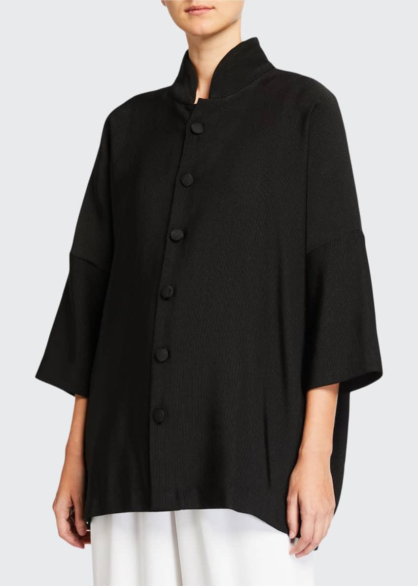 Eskandar Wool-Silk Sloped Shoulder Jacket & Matching Items