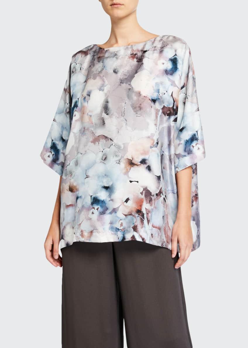 Eskandar Floral-Print Boat-Neck Long Shirt & Matching Items