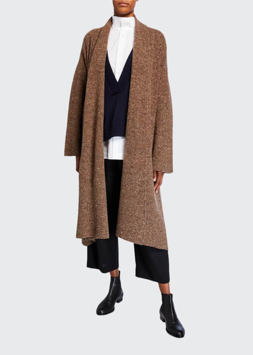 Eskandar Scrunched Shawl Collar Cardigan & Matching Items