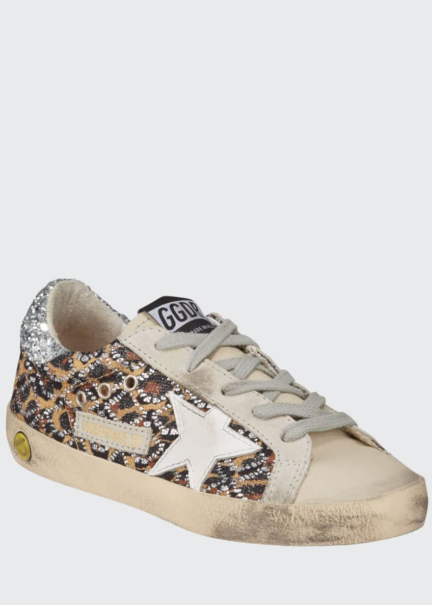 Superstar Leopard Embellished Sneakers, Toddler/Kids