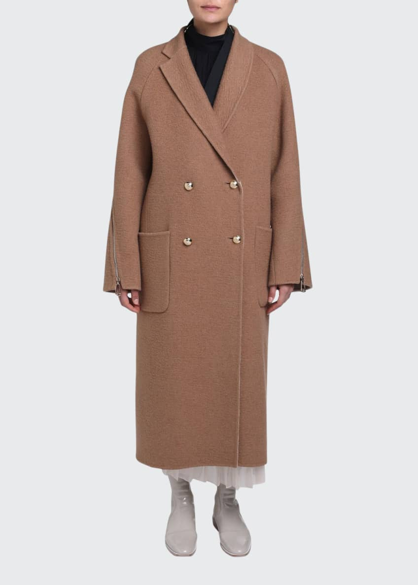 Fendi Double Breasted Camel Coat & Matching Items