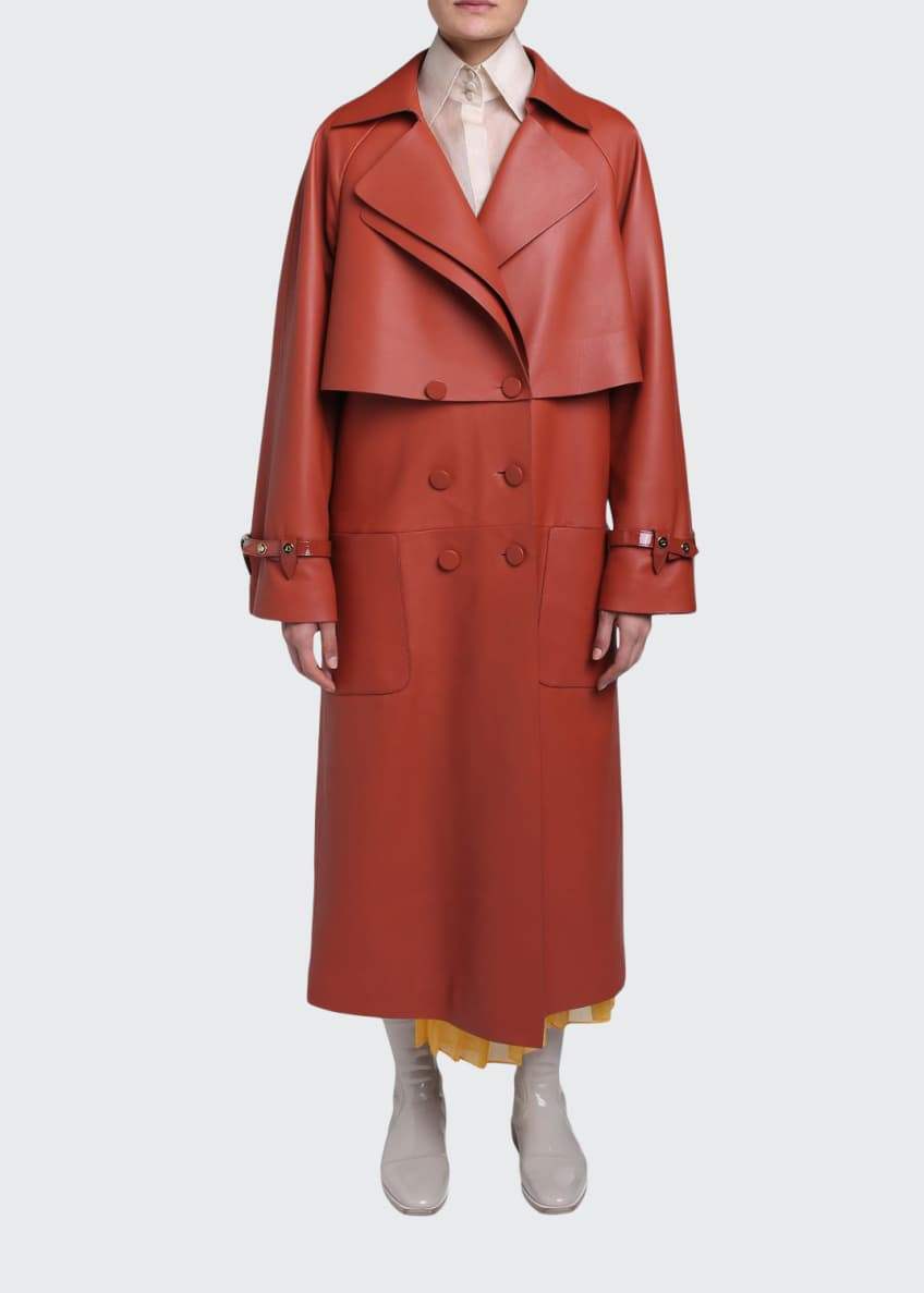 Fendi Leather Trench Coat & Matching Items