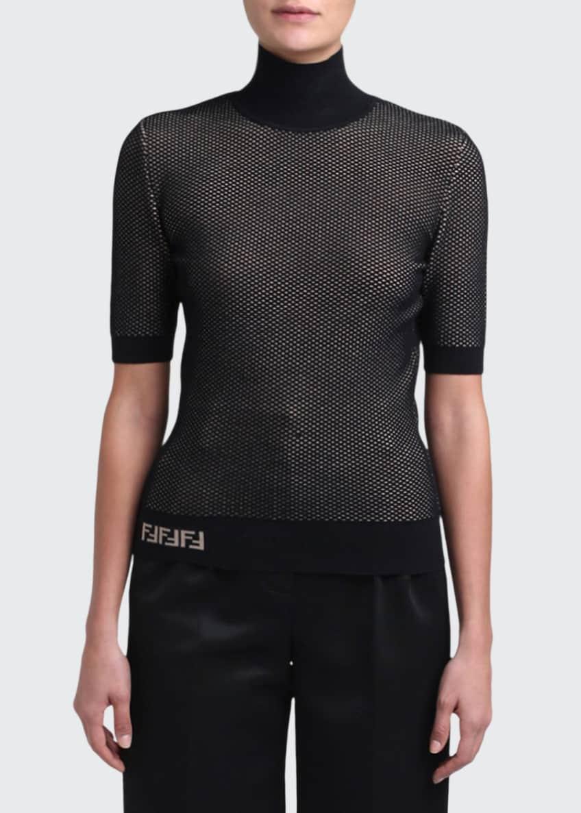 Fendi Mesh Knit Turtleneck Sweater & Matching Items