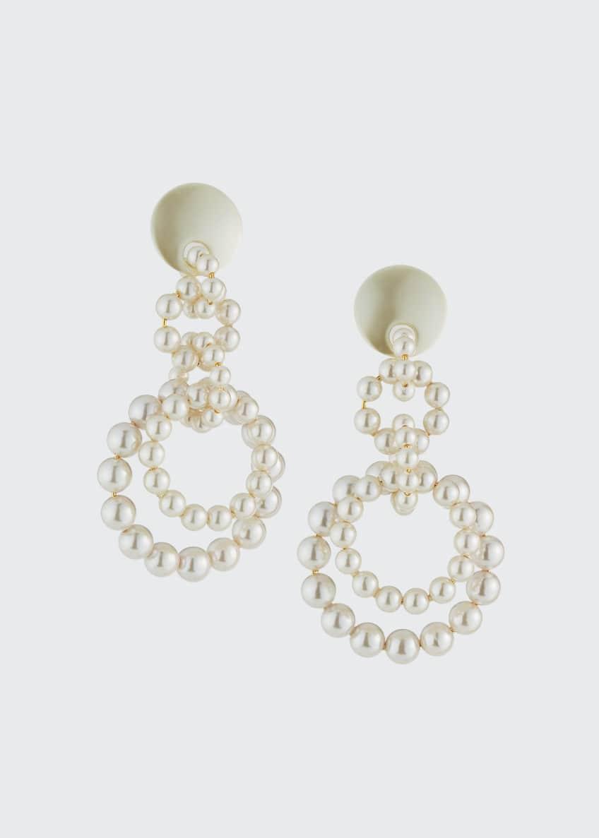Lele Sadoughi Pearly Loop-de-Loop Earrings