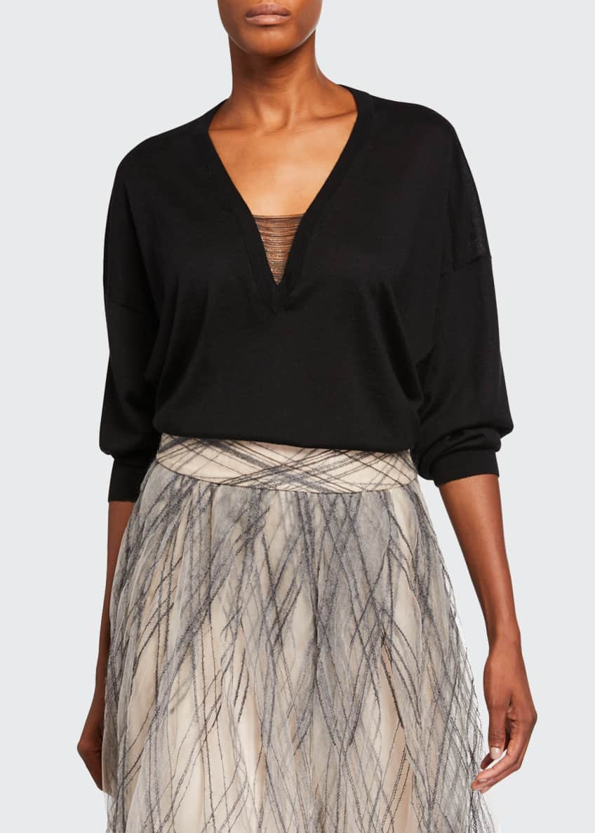 Brunello Cucinelli Monili-Argyle Tulle Skirt & Matching Items