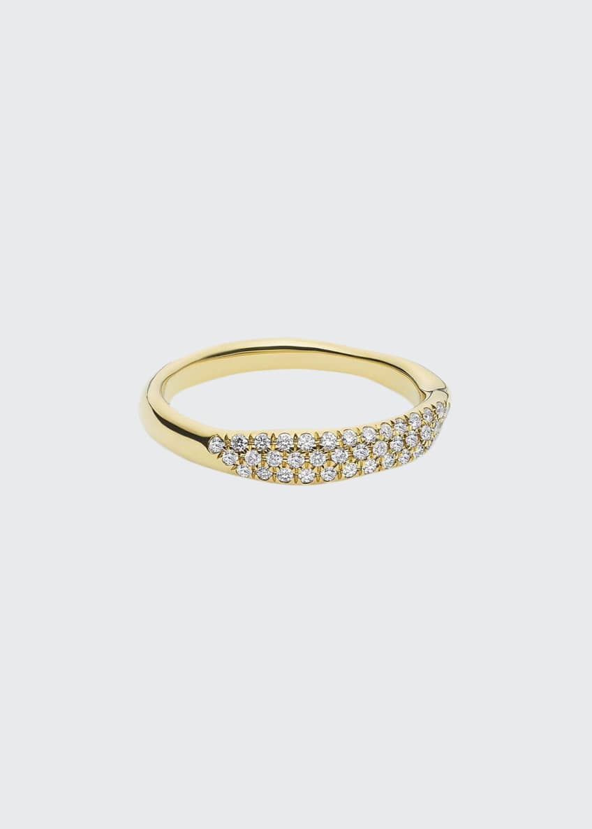 Image 1 of 1: Stardust 18k Diamond Squiggle Ring, Size 7
