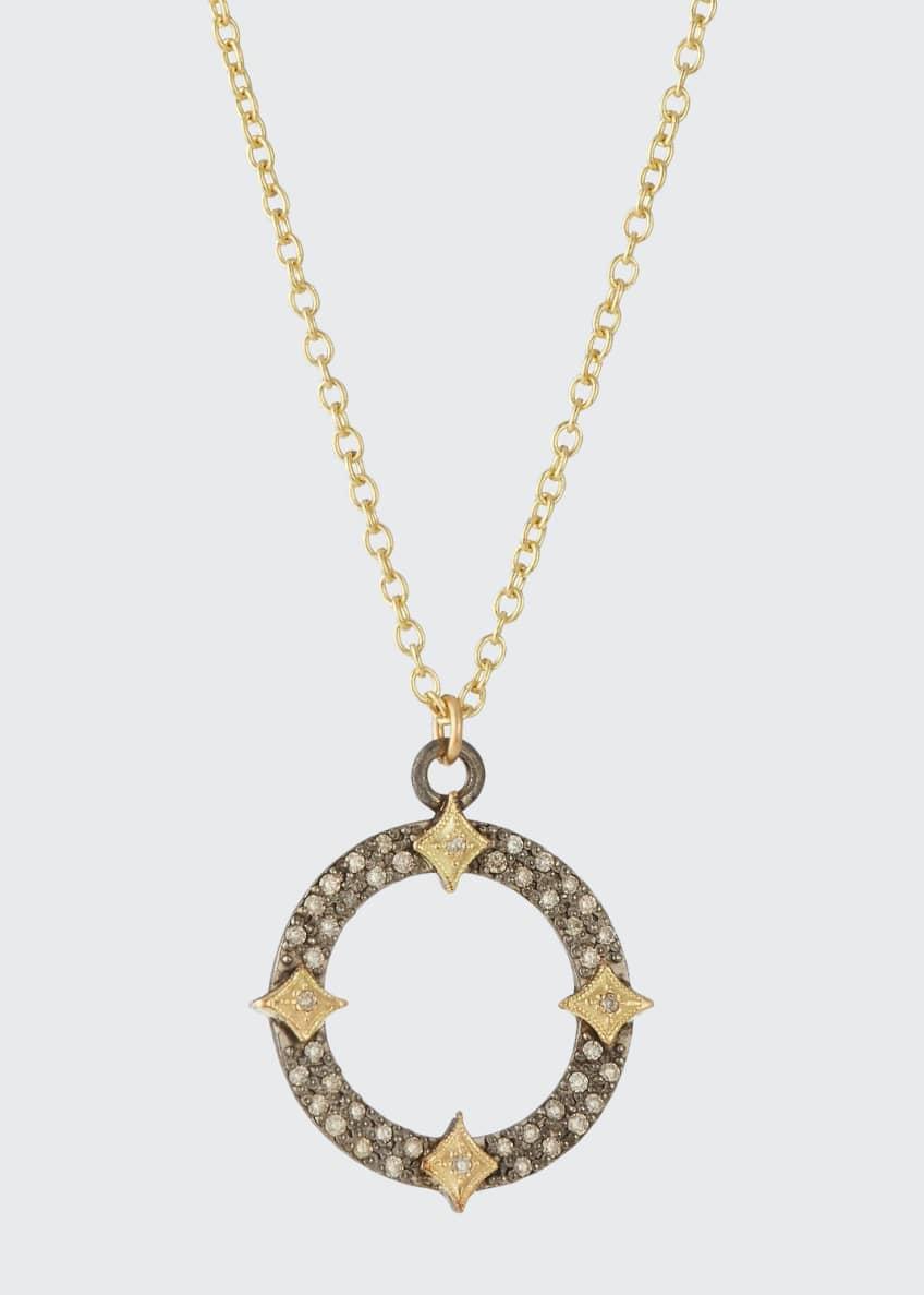 Armenta Old World Diamond Open Pendant Necklace w/