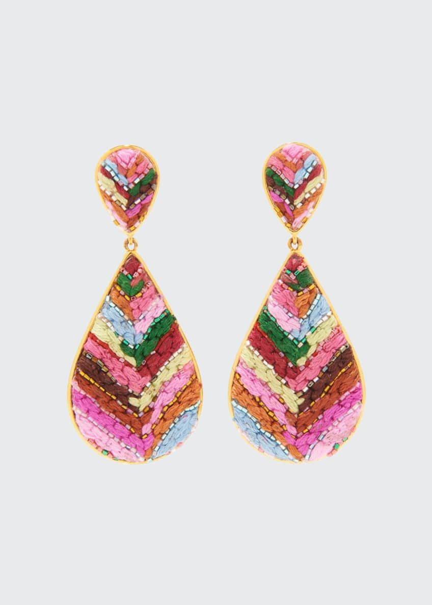 Mignonne Gavigan Sophia Embroidered Teardrop Earrings