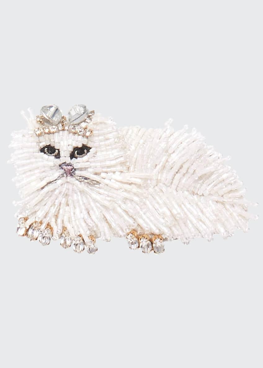 Mignonne Gavigan White Cat Brooch