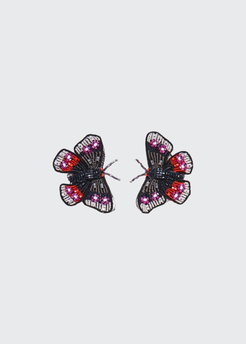 Mignonne Gavigan Beaded Butterfly Stud Earrings