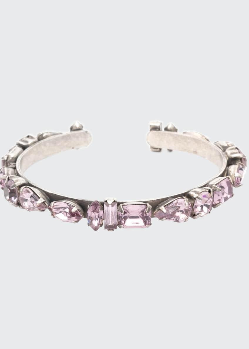 Dannijo Cielo Crystal Cuff Bracelet, Lavender