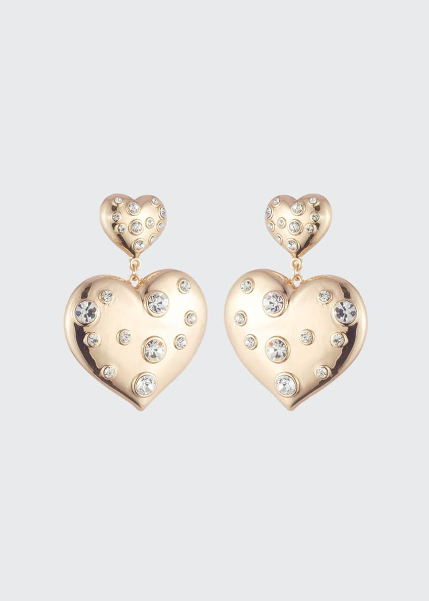 Dannijo Amante Double-Heart Earrings