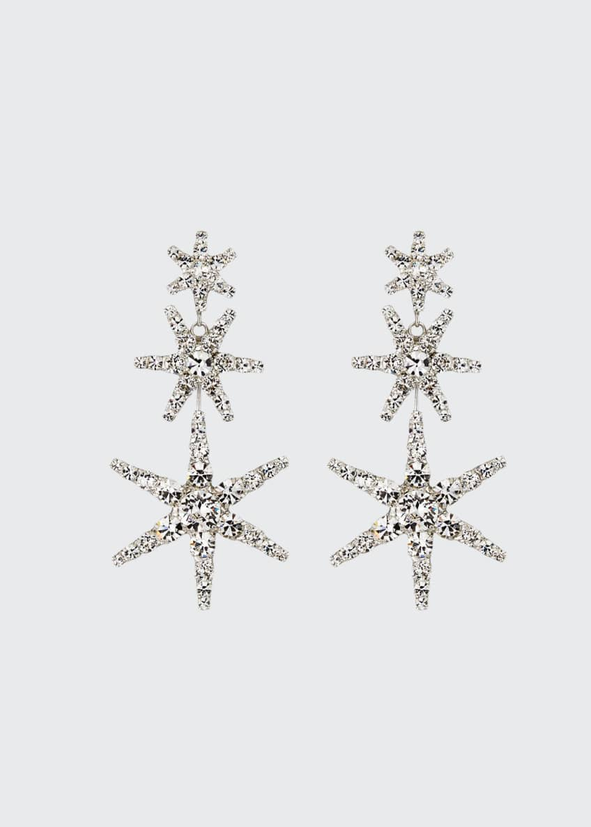 Image 1 of 2: Aurelia Crystal Star Earrings
