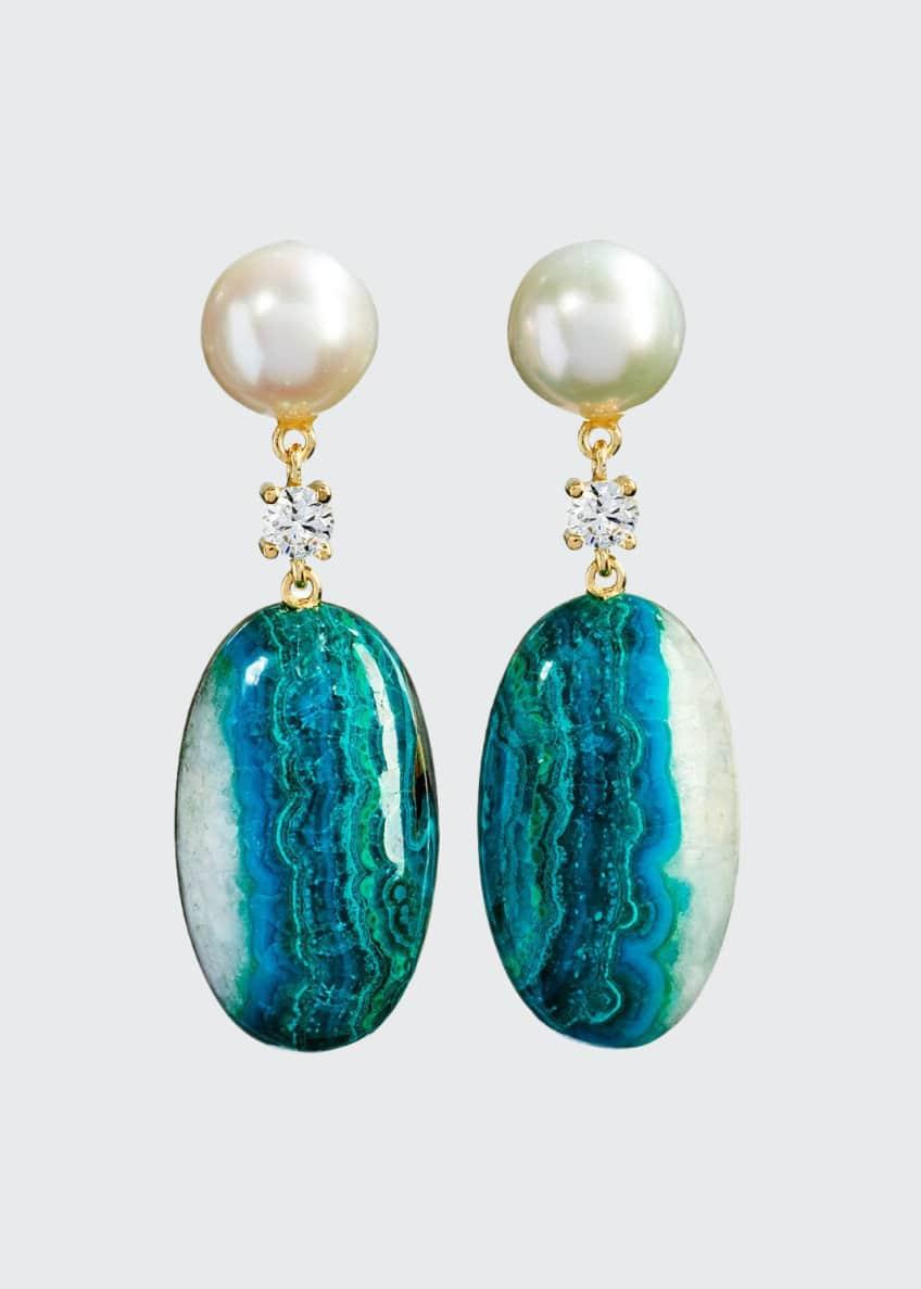 Jan Leslie 18k Bespoke 2-Tier Tribal Luxury Earrings