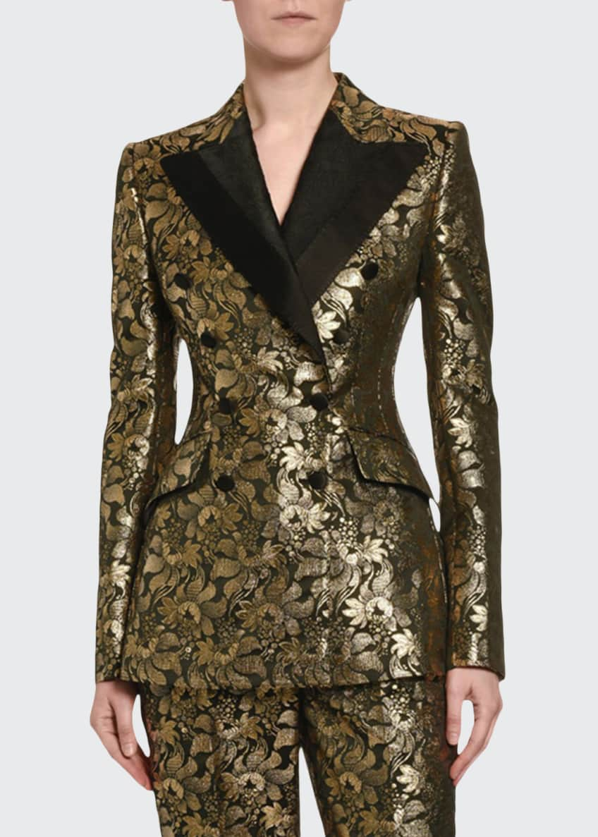 Dolce & Gabbana Double-Breasted Lame Jacket & Matching