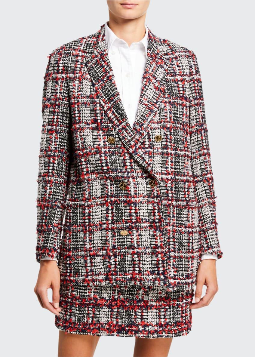 Thom Browne Prince of Wales Tweed Jacket &