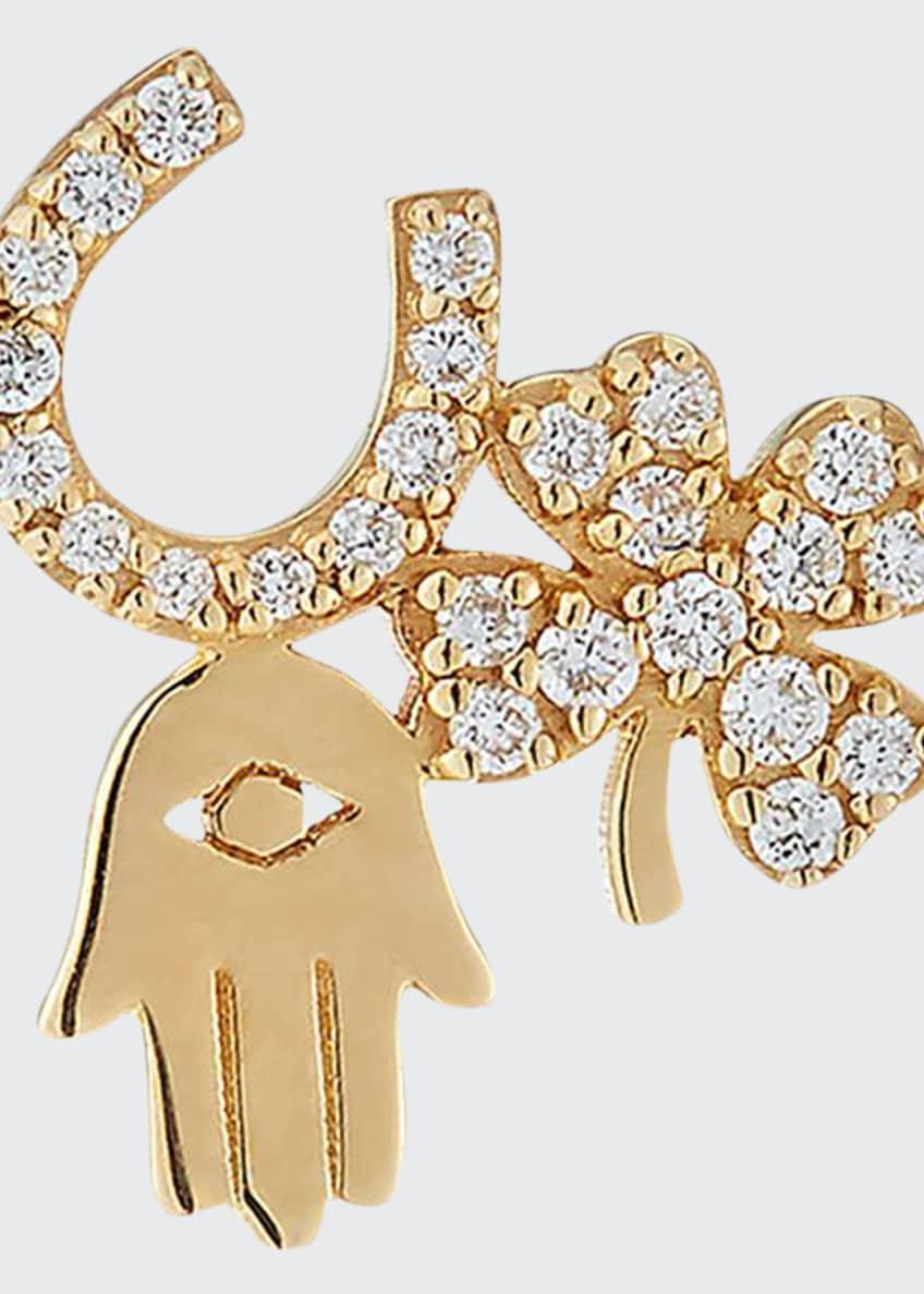 Sydney Evan 14k Diamond Luck & Protection Stud