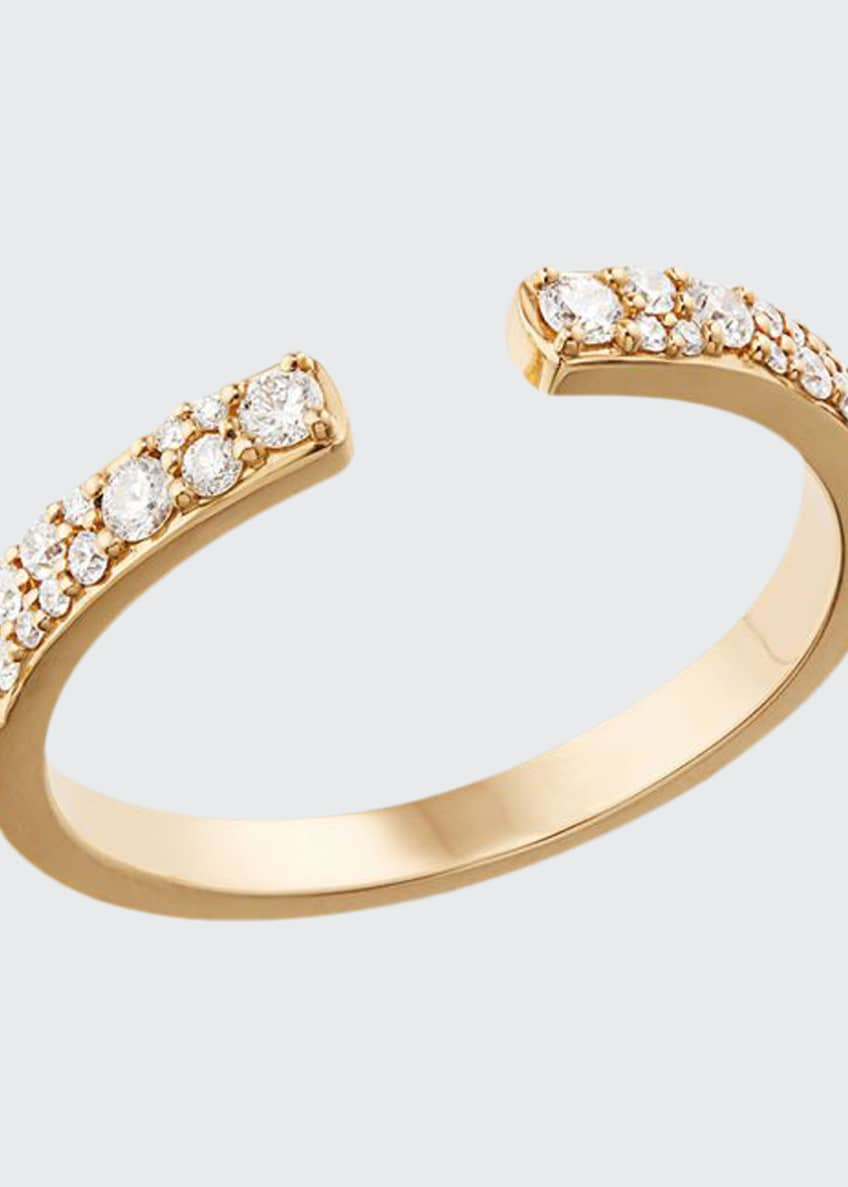 LANA Skinny Flawless Echo 14k Scattered Diamond Ring,