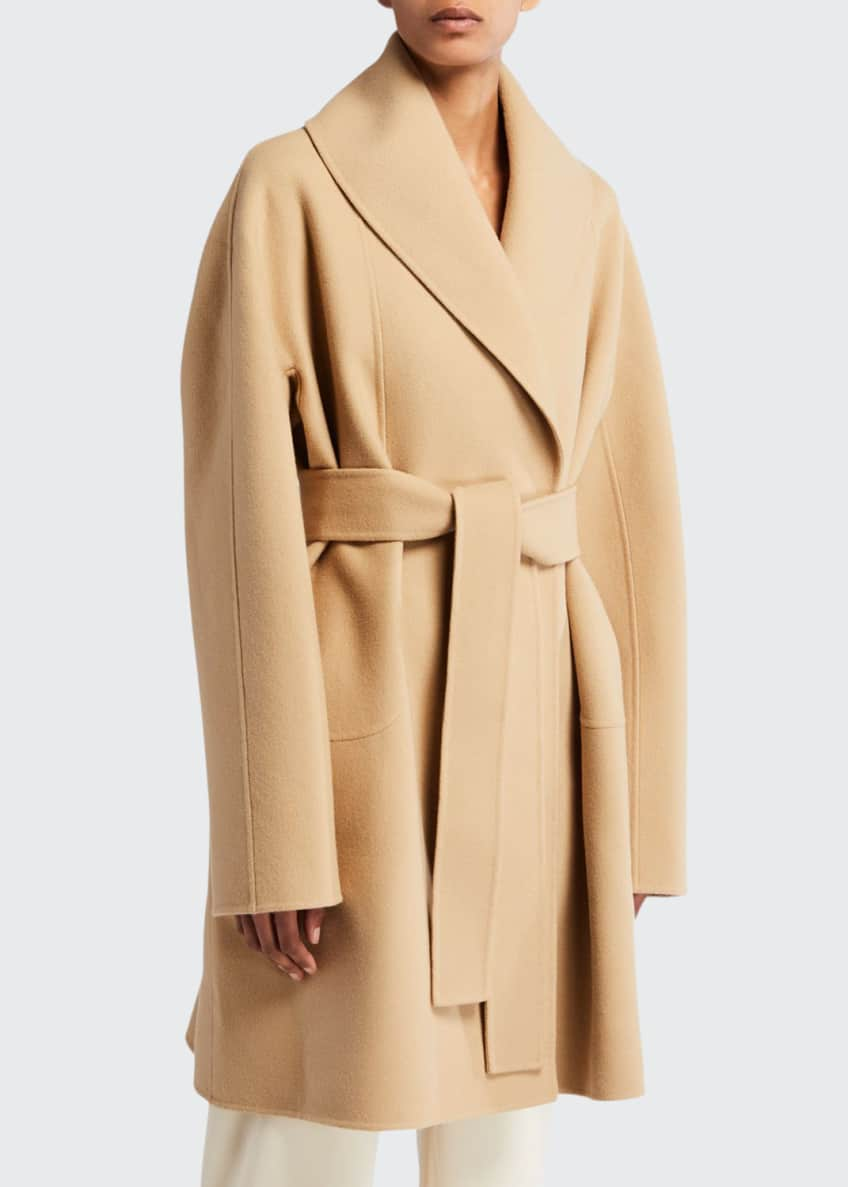 THE ROW Maddy Felted Wool Wrap Coat &