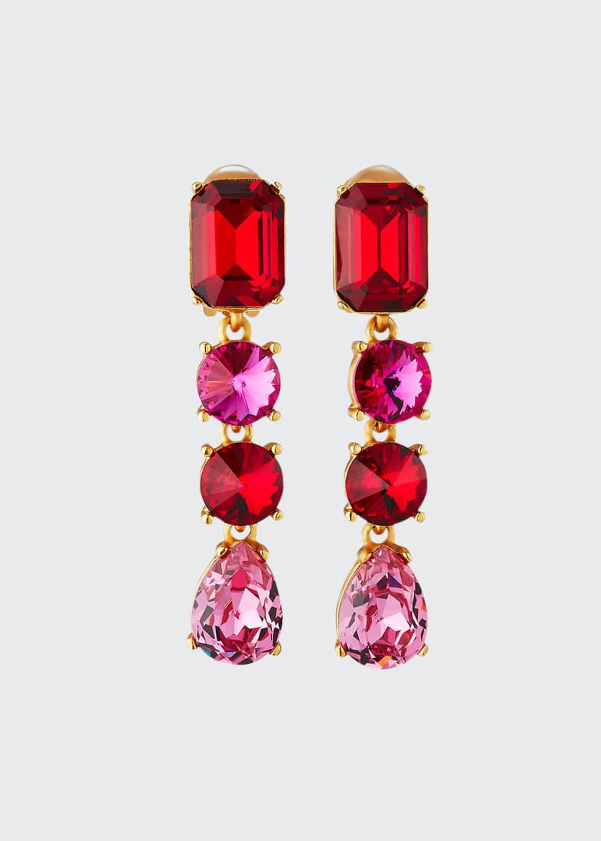 Image 1 of 1: Classic Crystal Large Drop Earrings