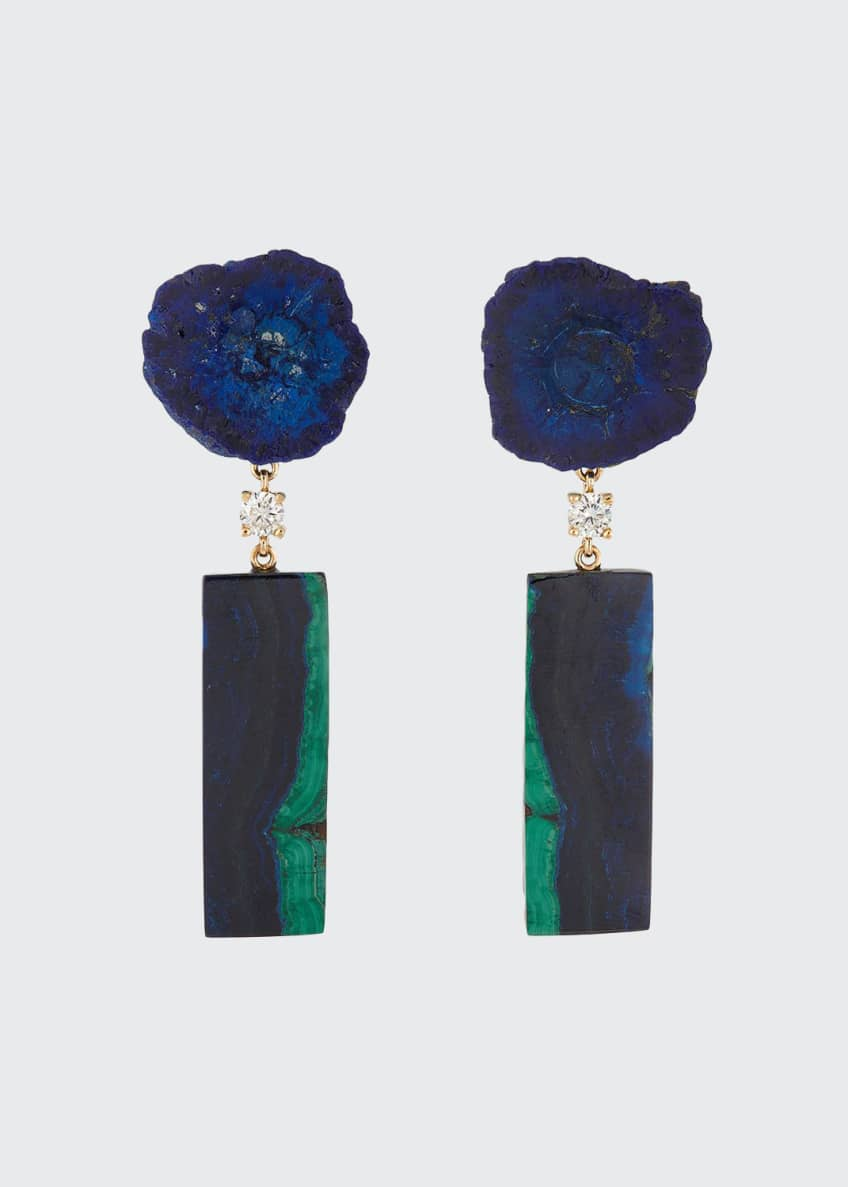 Jan Leslie 18k Bespoke 2-Tier Luxury Earrings w/