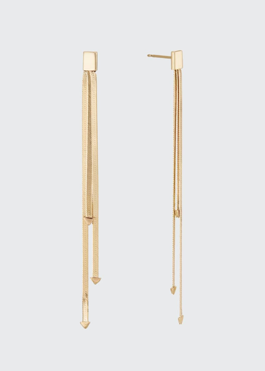 Image 1 of 2: 14k 3-Strand Linear Dangle Earrings