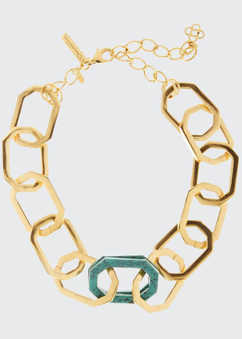 Image 1 of 1: Octagonal Link Necklace