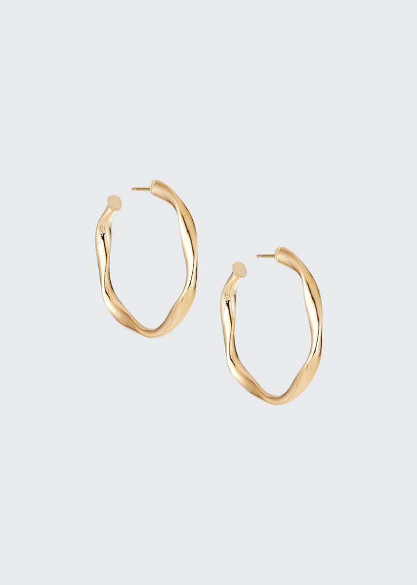 LANA 14k Wide Wave Twist Hoop Earrings