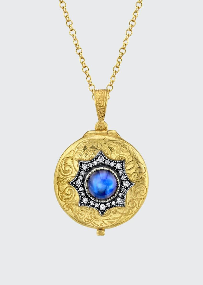 Arman Sarkisyan 22k Moonstone Locket w/ Diamonds