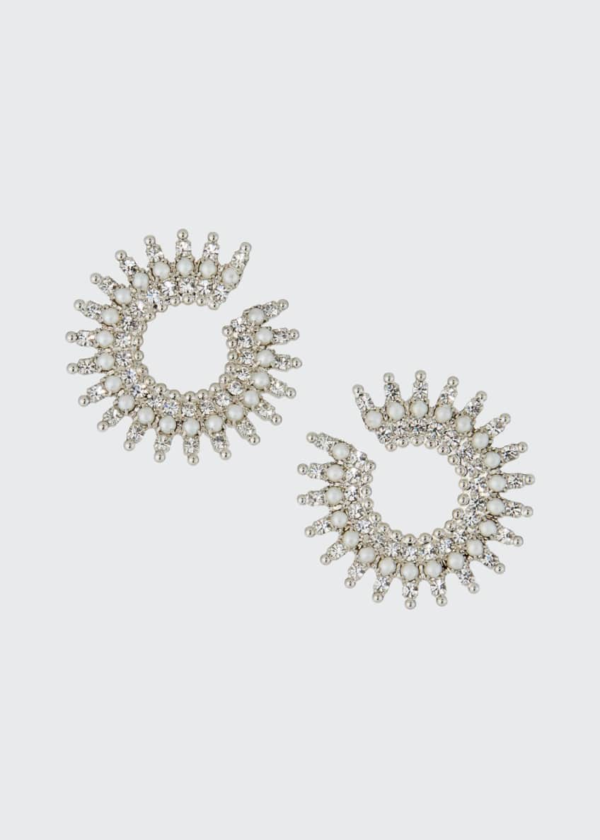Image 1 of 2: Holloway Pearly Crystal-Spike Earrings