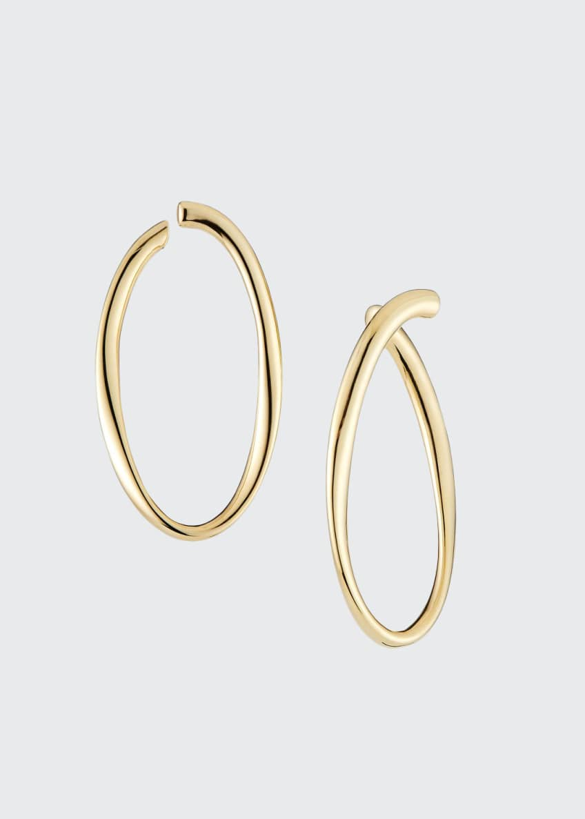 Image 1 of 1: Uptown Thin Graduating Crescent Hoop Earrings