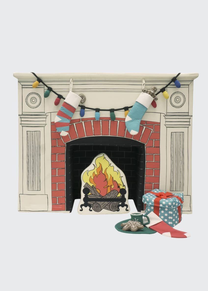 Image 1 of 4: Happy Hearth Fireplace Set w/ Accessories