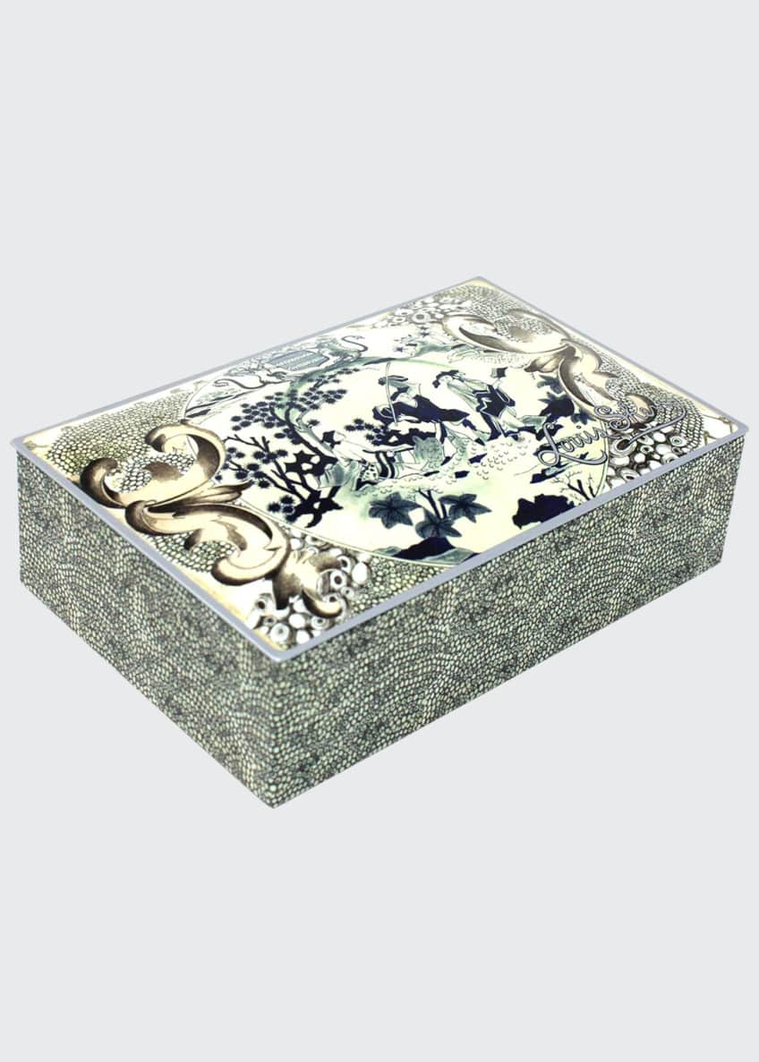 Image 1 of 1: Designer Collection John Derian Eastern Plate Truffle Tin