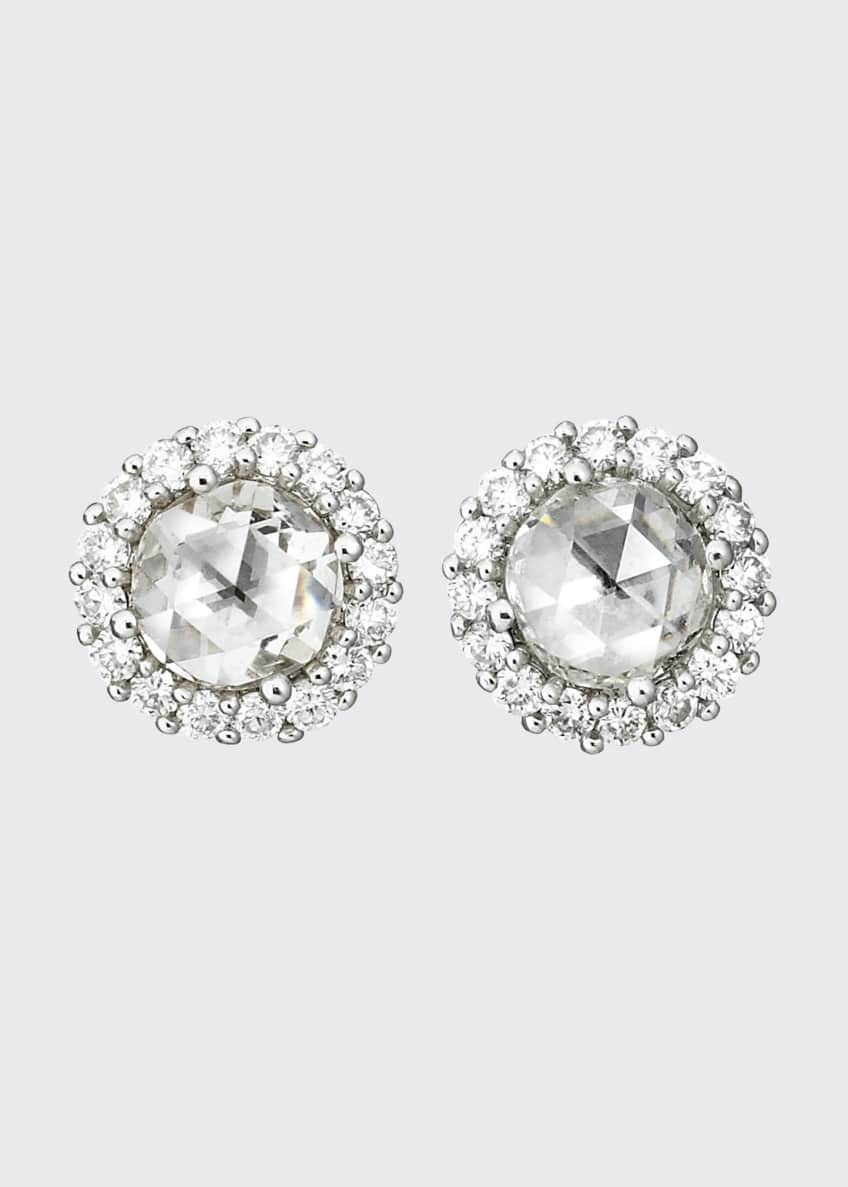 Image 1 of 1: Rose-Cut Diamond Stud Earrings
