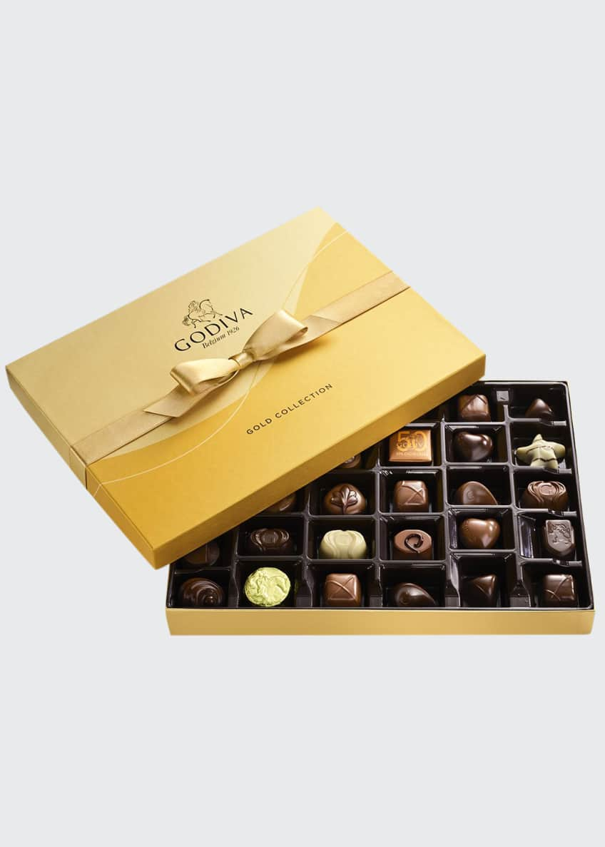 Image 1 of 3: 36-Piece Assorted Chocolate Gold Gift Box