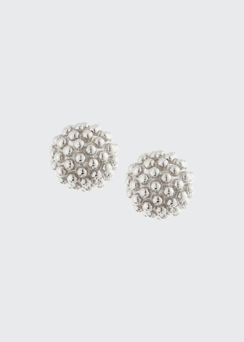 Image 1 of 2: Kate Sterling Silver Ball Earrings