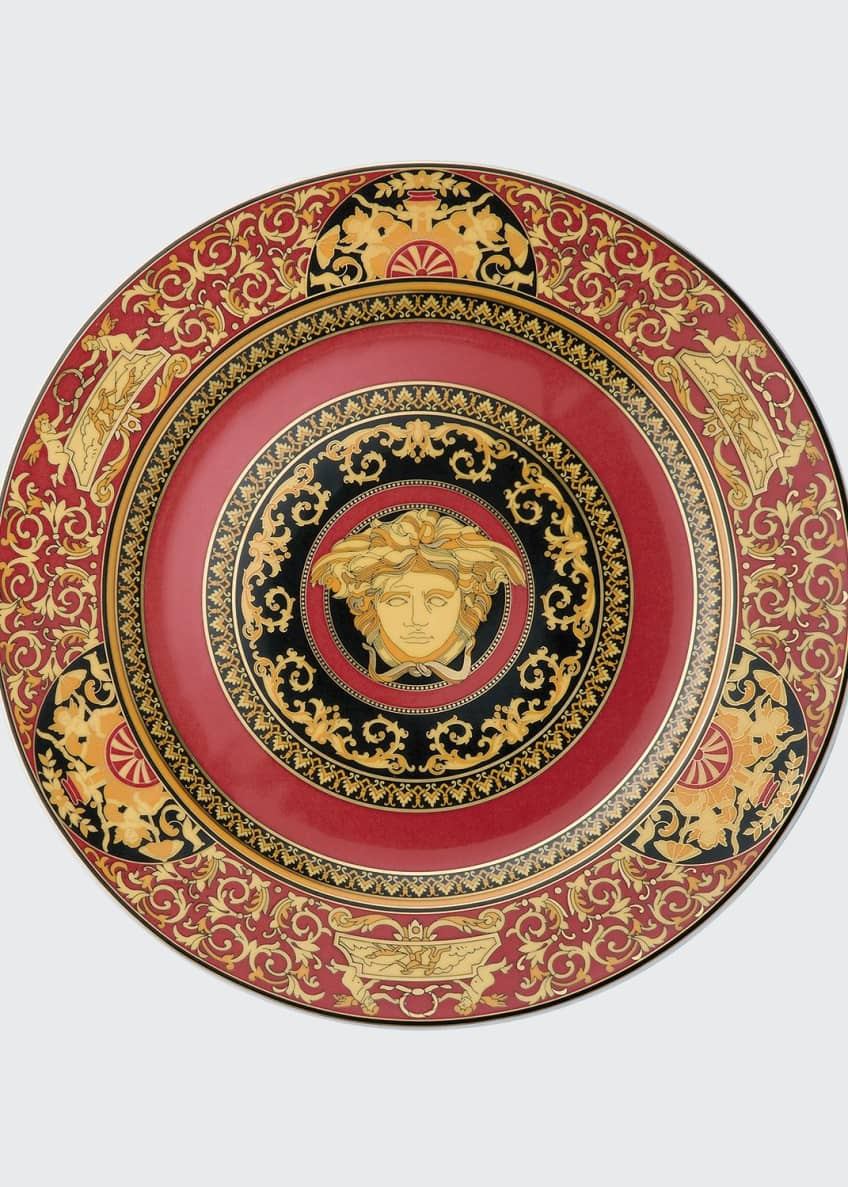 Image 1 of 2: Medusa Red Charger Plate