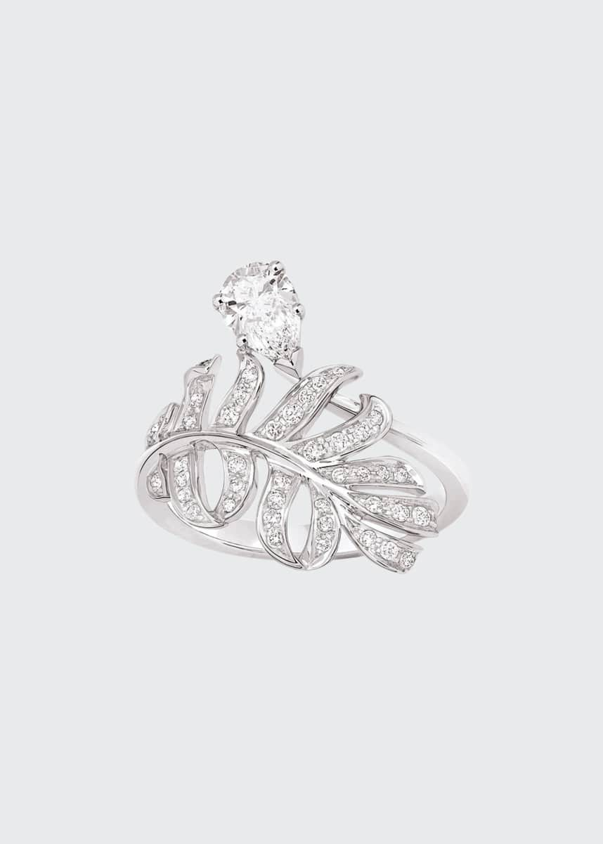CHANEL PLUME Ring in 18K White Gold with Diamonds
