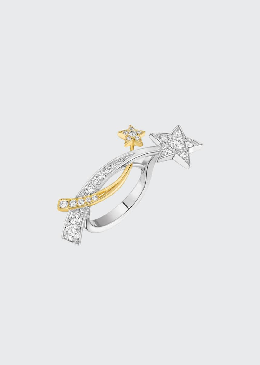 CHANEL COMÈTE Ring in 18K White & Yellow Gold with Diamonds