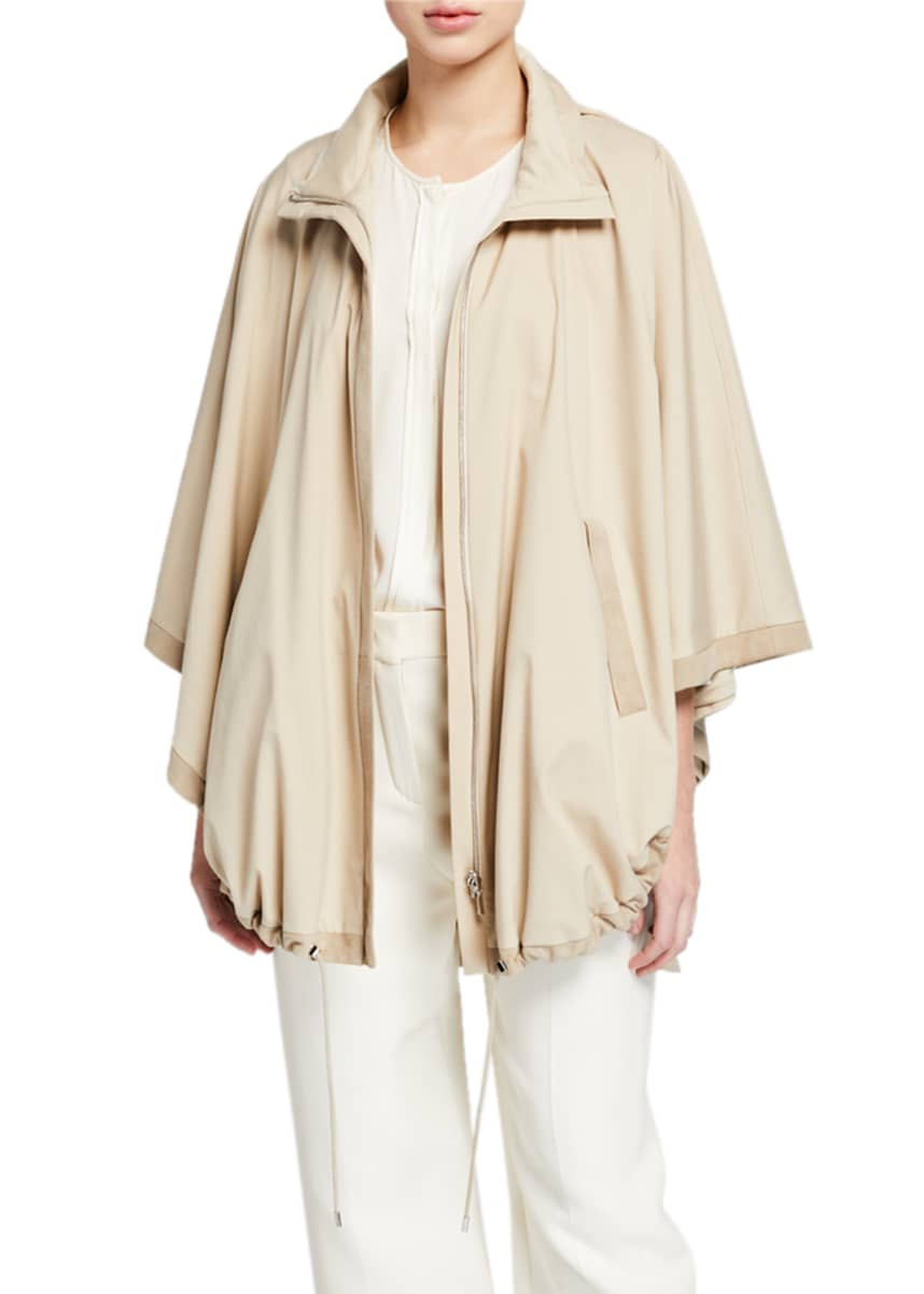Loro Piana Vail Reversible Tech-Fabric & Cashmere Cape
