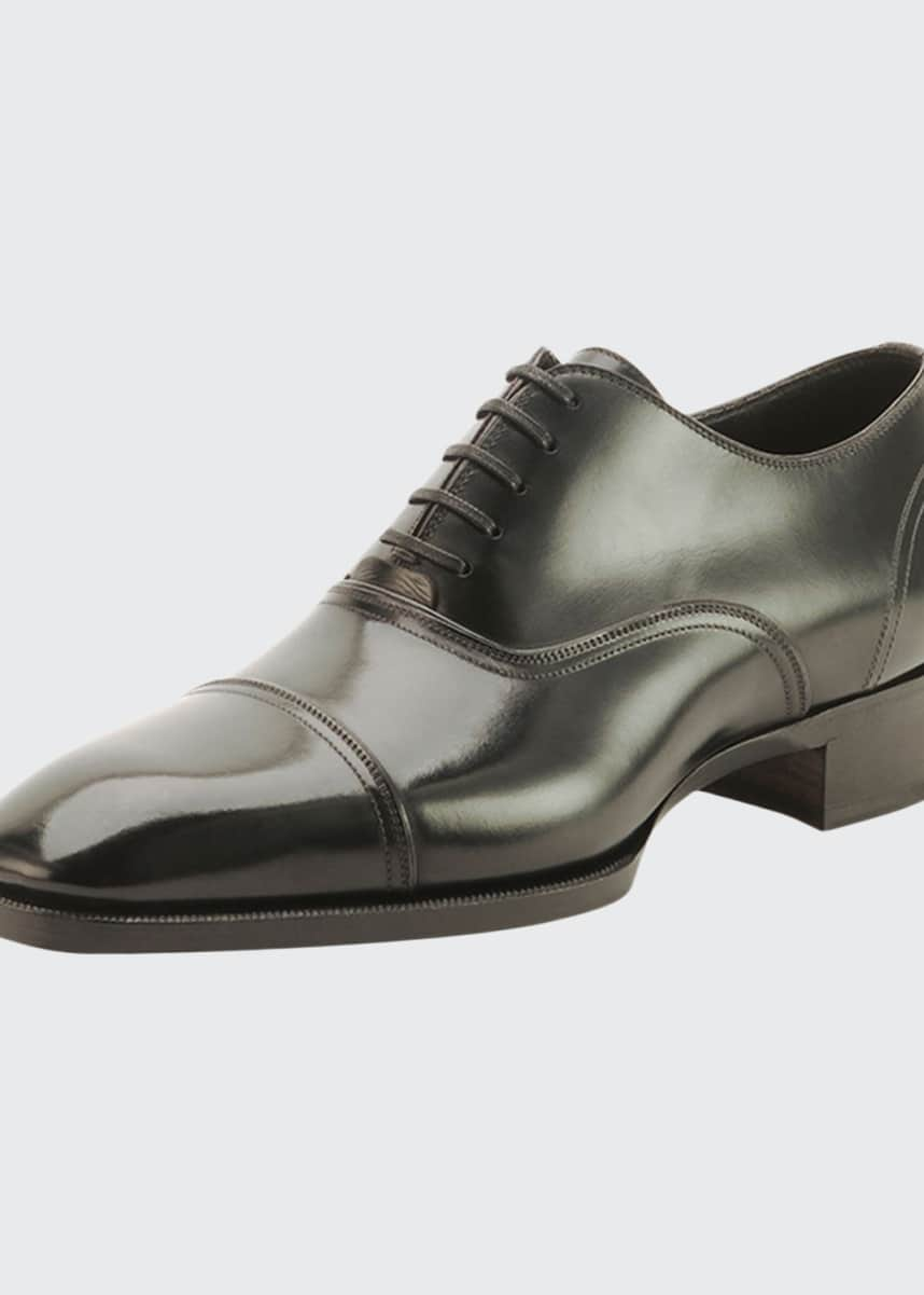 TOM FORD Gianni Cap-Toe Lace-Up Shoe
