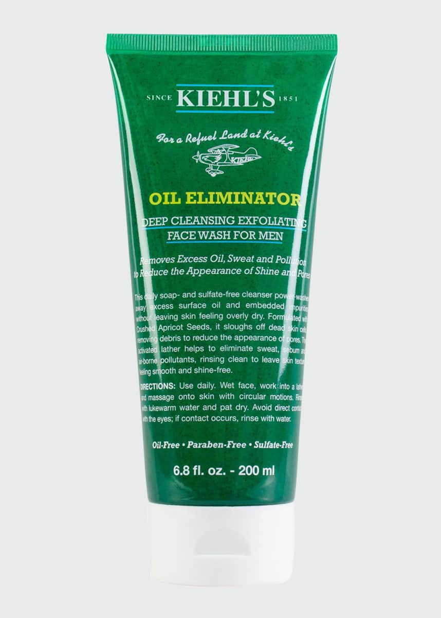 Kiehl's Since 1851 Oil Eliminator Deep Cleansing Exfoliating Facewash for Men, 6.8 oz.