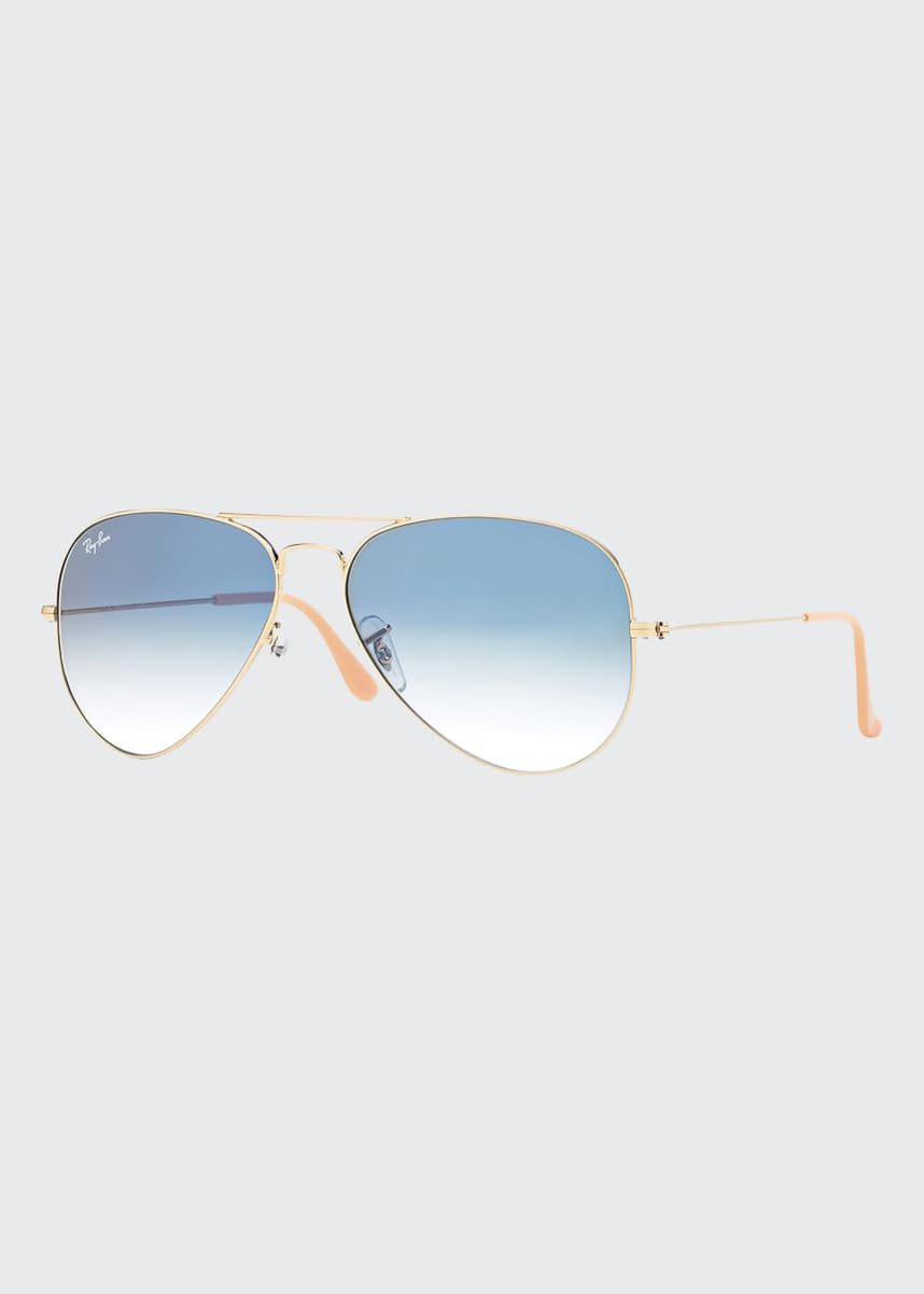 Ray-Ban Gradient Aviator Sunglasses, Golden/Blue