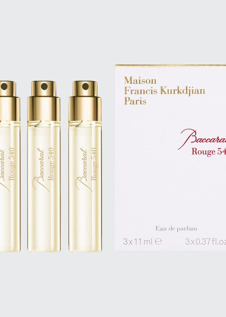Maison Francis Kurkdjian Baccarat Rouge 540 Eau de Parfum Travel Spray Refills, 3 x 0.37 oz./ 11 mL