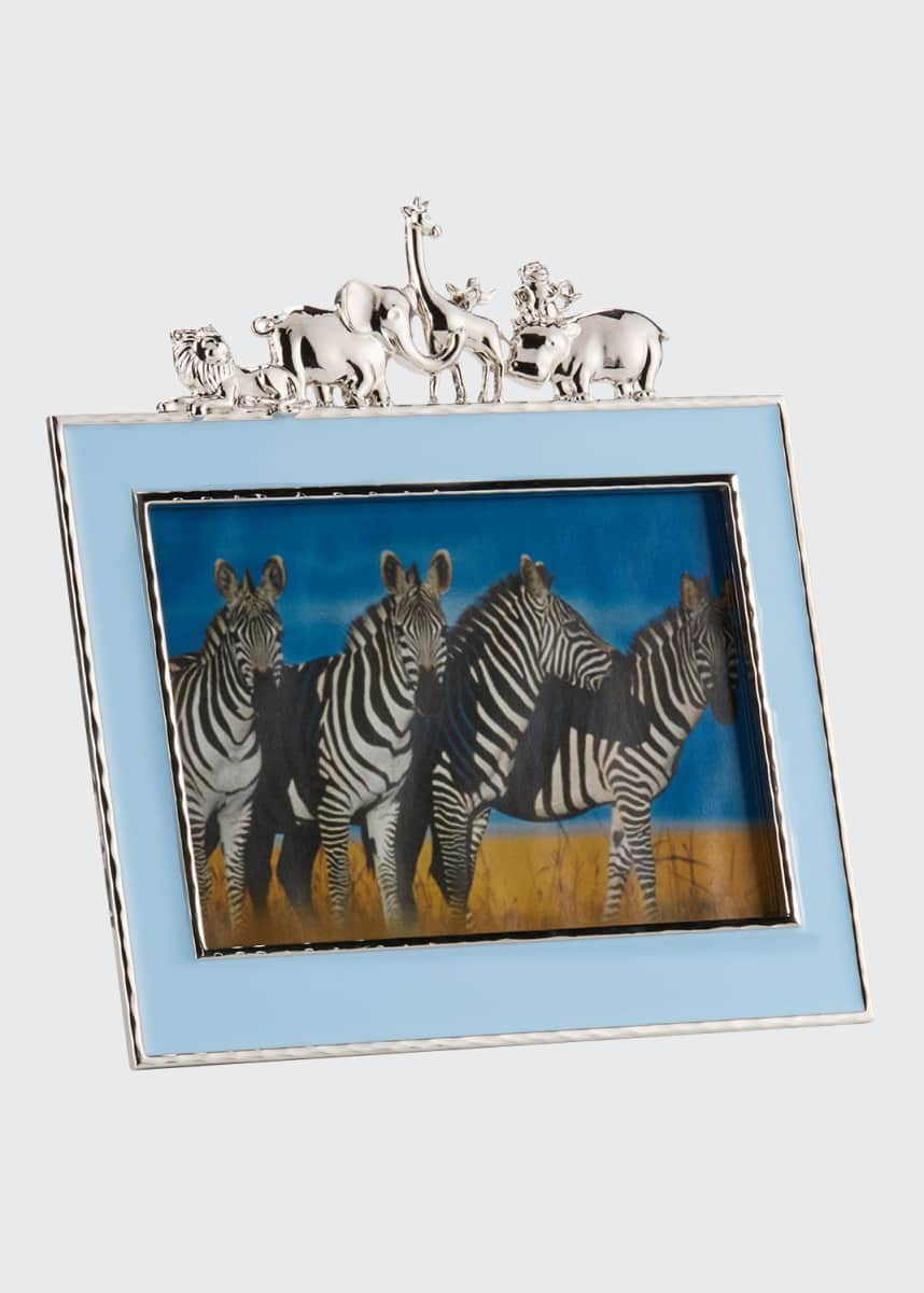 "Michael Aram Boys' Animals 5"" x 7"" Picture Frame, Blue"